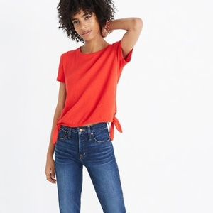 Madewell Texture & Thread Modern Side-Tie Top